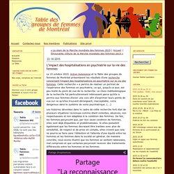 Table des groupes de femmes de Montréal: L'impact des hospitalisations en psychiatrie sur la vie des femmes