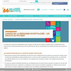La Charte du patient hospitalisé - Malades, Personne hospitalisée