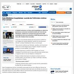 Kate Middleton hospitalisée: suicide de l'infirmière victime d'un canular