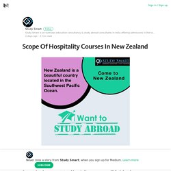Scope Of Hospitality Courses In New Zealand – Study Smart