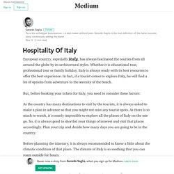 Hospitality Of Italy