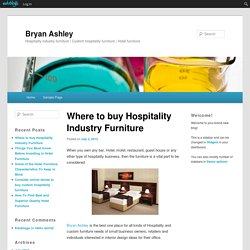 Where to buy Hospitality Industry Furniture