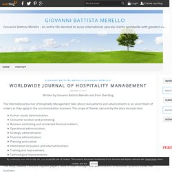 Worldwide Journal of Hospitality Management