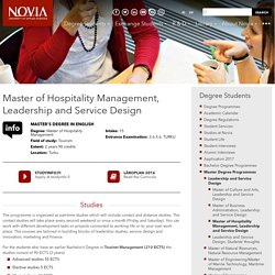 Master of Hospitality Management, Leadership and Service Design » Novia.fi