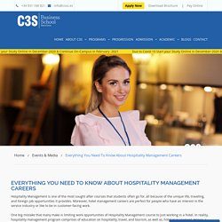 Careers in Hospitality Management in Barcelona