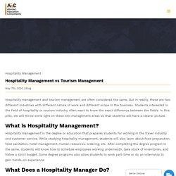 Hospitality Management vs Tourism Management - AEC