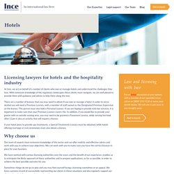 Top Licensing Solicitors for Hotels and Hospitality Industry