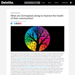 What are US hospitals doing to improve the health of their communities? - Health Solutions