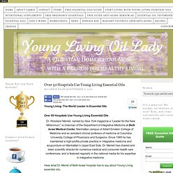 over 50 hospitals using young living essential oils
