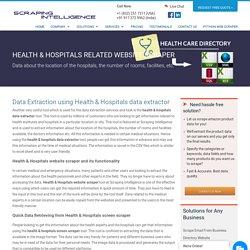 Health & Hospitals data extractor, Health & Hospitals Screen Scraper, Extract data from Health & Hospitals Website