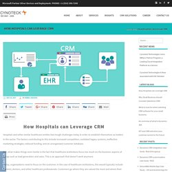 How Hospitals can Leverage CRM - Cynoteck