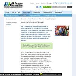 Hospitationsprogramm - UK-German Connection