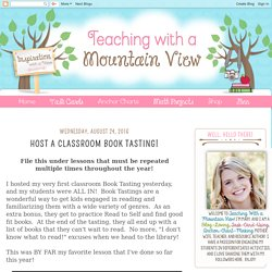 Host a Classroom Book Tasting!