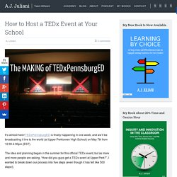 How to Host a TEDx Event at Your School