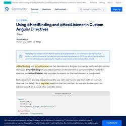 Using @HostBinding and @HostListener in Custom Angular Directives