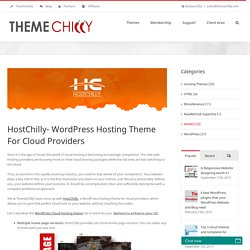 Best Responsive Wordpress Hosting Theme For Cloud Providers