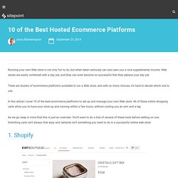 10 of the Best Hosted Ecommerce Platforms