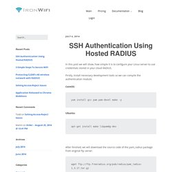 How to use hosted RADIUS for SSH authentication