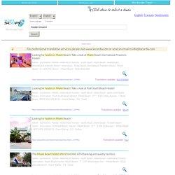 hostel miami - English - Translation - English - Translation