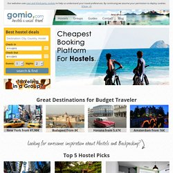 Hostel and budget accommodation bookings around the globe | Gomio