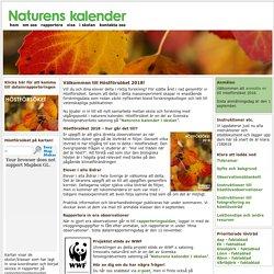 Höstförsöket - en del av Naturens kalender – följer vårtecken, sommartecken och hösttecken