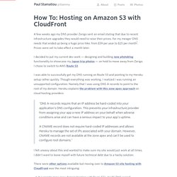 Hosting on Amazon S3 with CloudFront