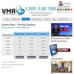 Hosting in Australia - Starter Pricing - Visual Marketing Australia