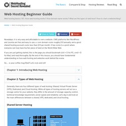 Web Hosting Beginner Guide - Learn All Basics In One Page
