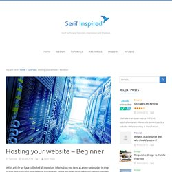Hosting your website – Beginner