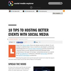10 Tips To Hosting Better Events with Social Media