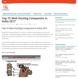 Top 15 Web Hosting Companies in India 2017