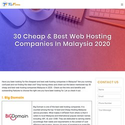30 Cheap & Best Web Hosting Companies In Malaysia 2020