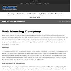 Web Hosting Company - Chicago Website Design SEO Company