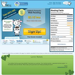 Web Hosting by FatCow - Get A Discount on Udderly Fantastic Web Hosting