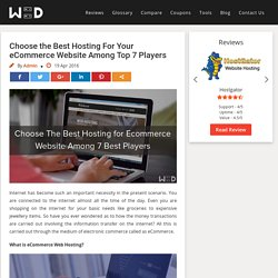 Best Hosting For eCommerce Website