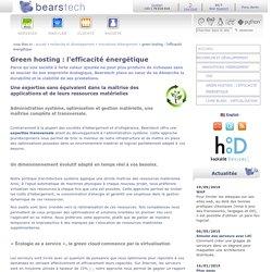 Green hosting : l'efficacité énergétique