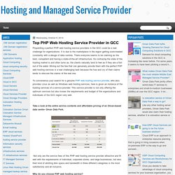 Hosting and Managed Service Provider: Top PHP Web Hosting Service Provider in GCC