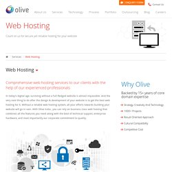 India's Best Web Hosting Company – Olive India