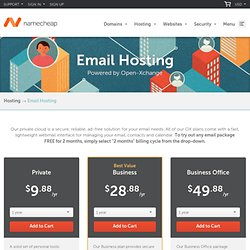 Cheap Email Hosting Service - OpenXchange Email Hosting