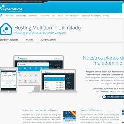 Hosting para alojar todas tus páginas web, planes multidominio