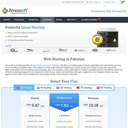 Affordable Web Hosting In Pakistan
