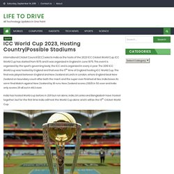 ICC World Cup 2023, Hosting Country