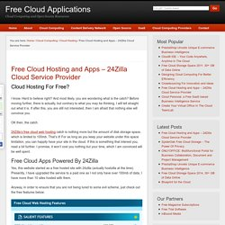 Free Cloud Hosting and Apps - 24Zilla Cloud Service Provider - Free Cloud Applications