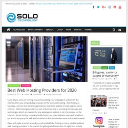 Top 10 Best Hosting Providers for 2020 - Solo Technology