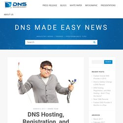 DNS Hosting, Registration, and Web Hosting.. Aren't They the Same?