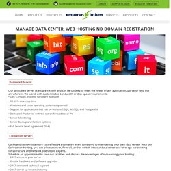 Data Centre, Web Hosting & Domain Registration Solutions