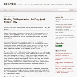 scie.nti.st » Hosting Git repositories, The Easy (and Secure) Way