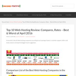Top 10 Web Hosting Review - Best & Worst of March 2016