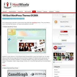 100 Best Wordpress Themes Of 2009 | HostWisely - Flock