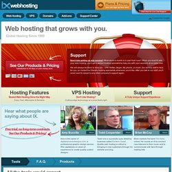 Web Hosting Service by IX. Shared, VPS and Cloud Hosting | IX Web Hosting